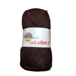 Cotton 8. Farve 1880, mørkebrun
