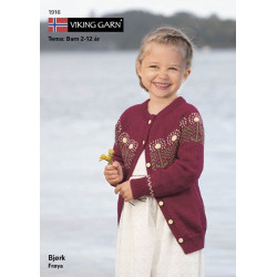 Image of   Viking strikkeopskrifter katalog 1916 - børn, viking bjørk viking