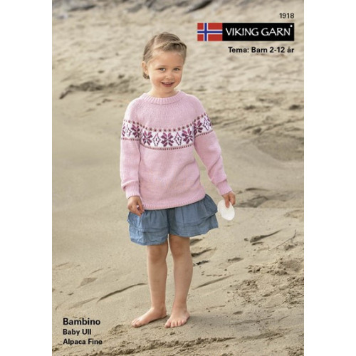 Viking strikkeopskrifter katalog 1918, børn, Bambino eller baby ull