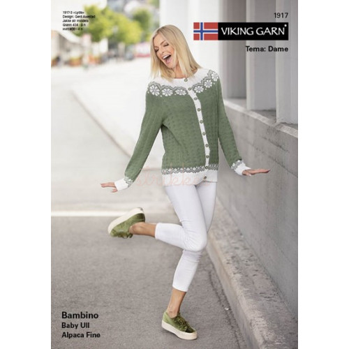 Gratis Viking modeller, katalog 1917, dame, Bambino eller baby ull, UDEN opskrifter