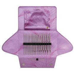 Addi Click lace long tips, 8 sæt udskiftelige rundpinde, 3,5 - 8mm