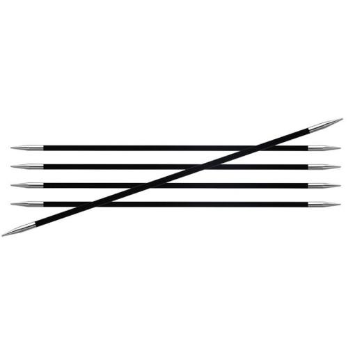 Karbonz strømpepinde med 5 pinde, 5 mm, 15 cm, KnitPro