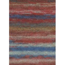 Lang Yarns Dipinto, Farve 62, rød/blå