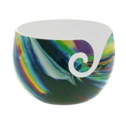 Strikkeskål i keramik, Illusion 14 x 10 cm