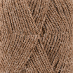 Drops Alpaca MIX farve 607 lys brun meleret