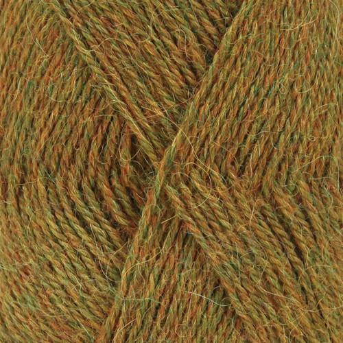 Drops Alpaca MIX farve 7233 gulgrøn