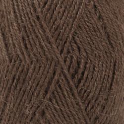 Drops Alpaca UNI farve 601 mørkebrun