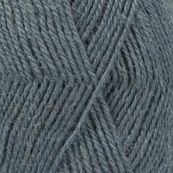 Drops Alpaca UNI farve 6309 turkis/grå