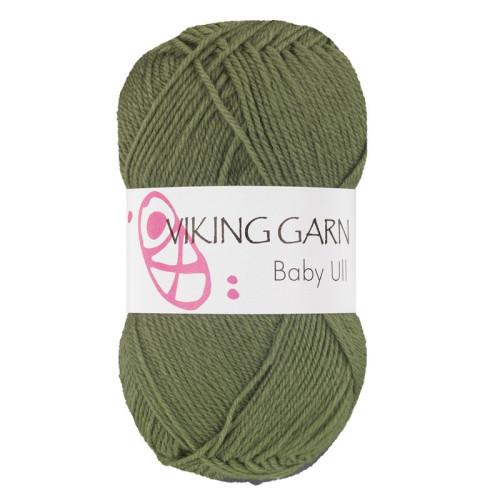 Viking Baby ull 334 army grøn