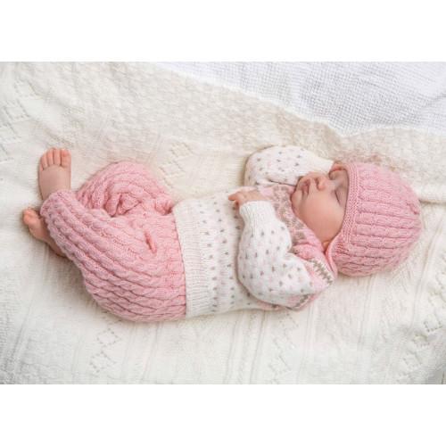 Genser, bukser, hue og halstørklæde - Viking Design 1305-16 Kit - 1-24 Mdr. - Viking Baby Ull