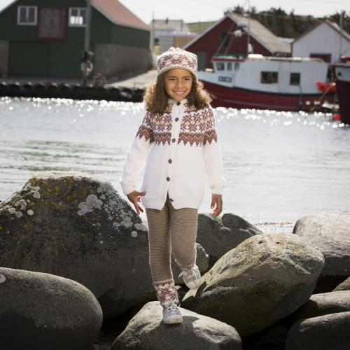 """""""Fryd"""" Kofte, bukser og hue - Viking Design 1709-6 Kit - 2-12 År - Viking Alpaca Storm"""