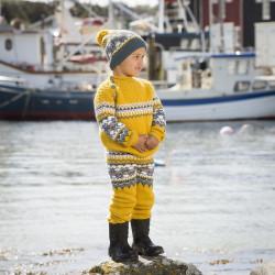 """""""Fryd"""" Genser, bukser og hue, """"modell Ylvis"""" - Viking Design 1709-9 Kit - 2-12 År - Viking Alpaca Storm"""