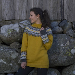 "Image of   ""mille"" genser - viking design 1708-6 kit - s-xxl - viking alpaca"