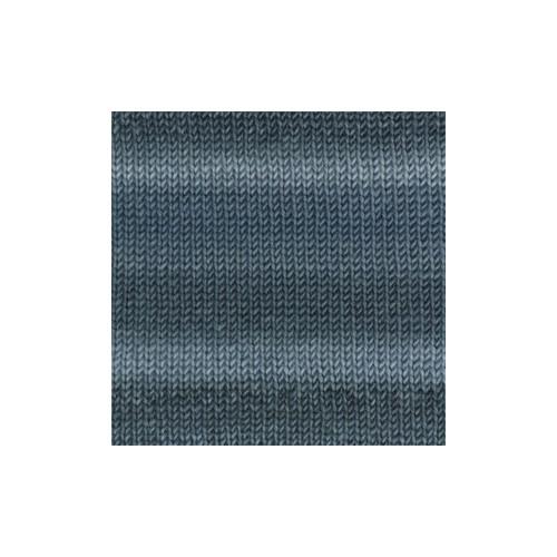 Drops Big delight print 12 jeansblå/teal