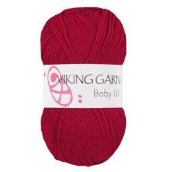 Viking Baby ull 355 mørk rød