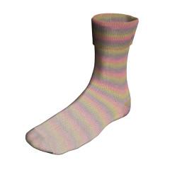 UDGÅET Lang Yarns Twin Soxx, Happy Stripes: Funnyrainbow 232, 100g