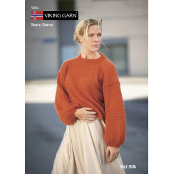 Image of   Viking strikkeopskrifter katalog 1924, dame, kid silk viking garn
