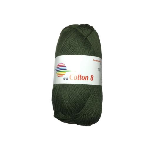 Cotton 8. Farve 4922, mosgrøn