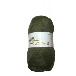Cotton 8. Farve 1424, oliven