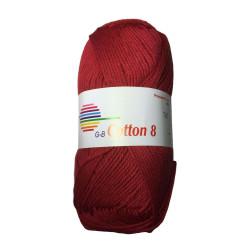 Cotton 8. Farve 1092, mørkerød