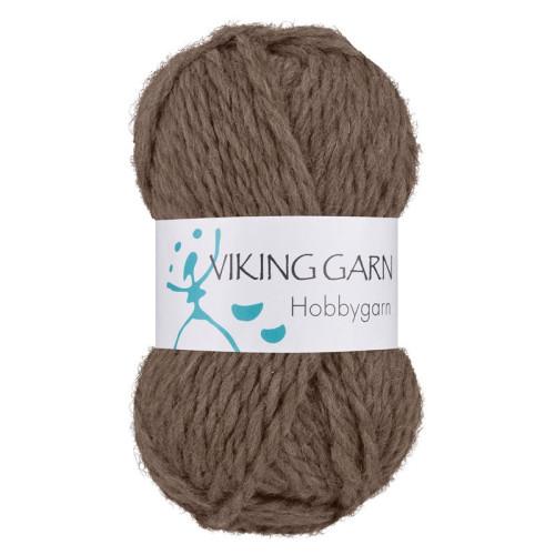 Viking Hobbygarn. Farve 908, brun