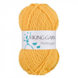 Viking Hobbygarn. Farve 946, gul
