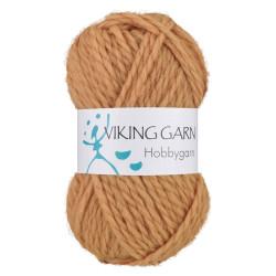 Viking Hobbygarn. Farve 945, okkergul