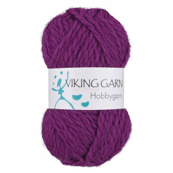 Viking Hobbygarn. Farve 970, lyng