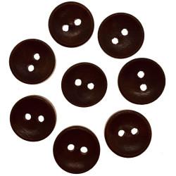 Blank mørkbrun træknap. Pose med 8 knapper 13mm