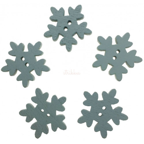 Snefnug træknapper. Pose med 5 knapper, 18,5mm