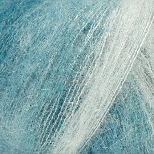 Drops kid-silk LONG PRINT farve 25 søgrøn