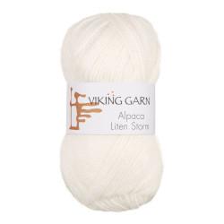 Viking Alpaca Lille Storm. Farve 700, hvid