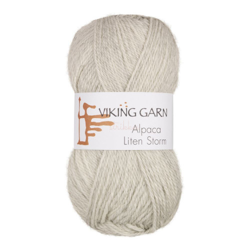 Viking Alpaca Lille Storm. Farve 712, perlegrå