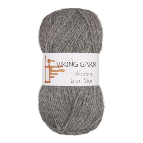Viking Alpaca Lille Storm. Farve 713, lys grå