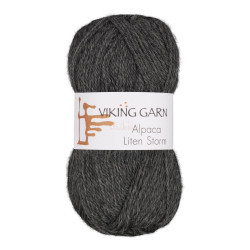Viking Alpaca Lille Storm. Farve 715, grå