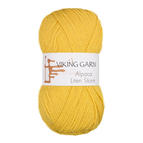 Viking Alpaca Lille Storm. Farve 745, gul