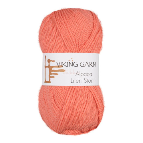 Viking Alpaca Lille Storm. Farve 763, lakserosa
