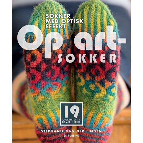 Op art - sokker - Stephanie van der Linden bog