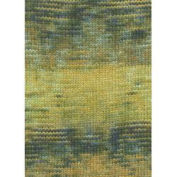 Lang Yarns Camille. Farve 51, guld/blå/oliven