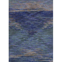 Lang Yarns Camille. Farve 152, syren/abrikos/blå