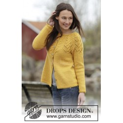 Early Autumn Cardigan by DROPS Design S-XXXL DROPS NEPAL