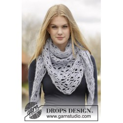 Frost flowers by drops design one-size drops air garn sjal