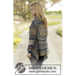 Image of   Autumn delight by drops design s-xxxl drops delight garn cardigan
