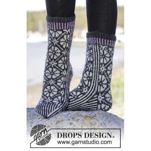 Starry Night Socks by DROPS Design 35-43 DROPS KARISMA