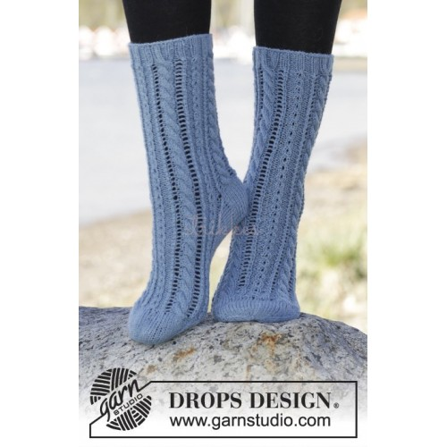 Heavenly Blue by DROPS Design 35-43 DROPS FABEL