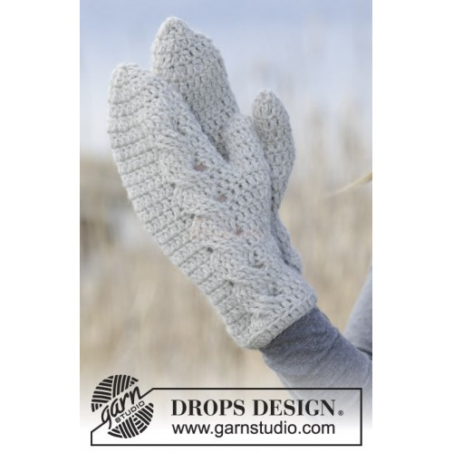 Snowdrift Gloves by DROPS Design S-XL DROPS NEPAL