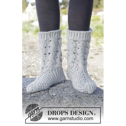 Snowdrift Socks by DROPS Design 35-43 DROPS NEPAL