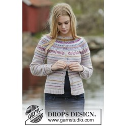 Sweet As Candy Cardigan by DROPS Design S-XXXL DROPS KARISMA