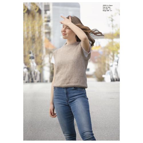 """Clara"" Vest med rund hals - Viking Design 2025-1D Kit - XS-XXL - Viking Kid-Silk"
