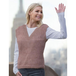 """""""Clara"""" Vest med v-hals - Viking Design 2025-2D Kit - XS-XXL - Viking Kid-Silk"""